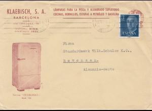 Spanien: 1958: Barcelona nach Bevensen, Kühlschrank
