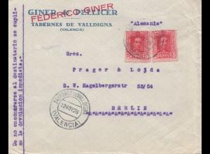 Spanien: 1926: Tabernes de Valldigna nach Berlin, Schulschreibtisch