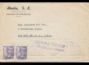 Spanien: 1942: Pamplona nach USA, Zensur