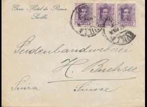 Spanien: 1923: Sevilla nach Buchsee/Schweiz
