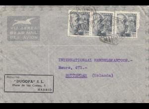 Spanien: 1947: Lufpost Madrid nach Rotterdam