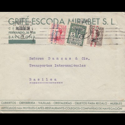 Spanien: 1932: Barcelona nach Basilea