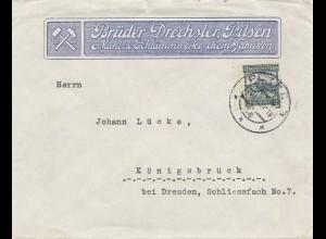 Tschecheslowakei: Brief Brüder Drechsler Pilsen nach Königsbrück