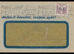 Tschecheslowakei: 1935 Brief aus Prag , mit Werbestempel