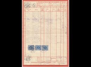 Tschecheslowakei: 1937: Klatovy, Dorucovaci karta ickovych poukazck