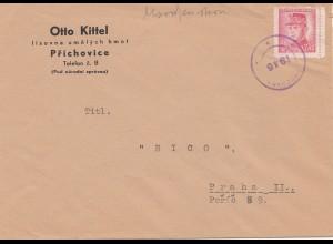 Tschecheslowakei: 1946: Prichovice nach Prag
