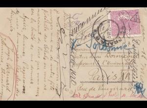 Tschecheslowakei: 1920: Ansichtskarte Prag, Sportfest, nach Paris