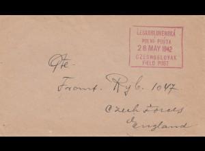 Tschecheslowakei: 1942: Feldpost nach England