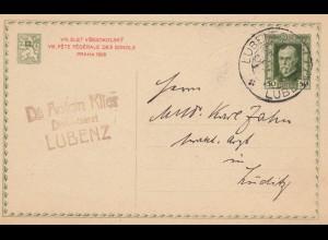 Tschecheslowakei: 1926: Ganzsache Lubenz