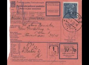 Tschecheslowakei: 1932: Paketkarte Prag nach Wien