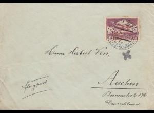 Tschecheslowakei: 1936: Brief Teplitz-Schönau- Flugpost