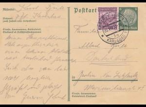 Tschecheslowakei: 1933: DR Ganzsache Karlsbad nach Berlin