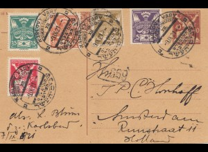 Tschecheslowakei: 1921: Karlovy nach Holland