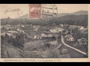 Tschecheslowakei: Ansichtskarte Finkendorf, Chotyne