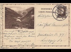 Tschecheslowakei: 1931: Ganzsache Louny nach Leipzig