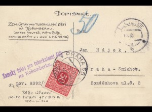 Tschecheslowakei: 1930: Postkarte nach Prag