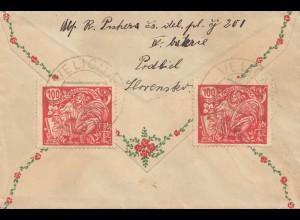 Tschecheslowakei: Brief aus Verlicna nach Halle