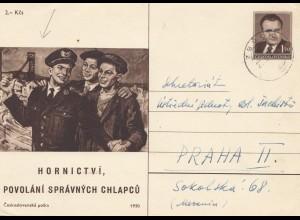 Tschecheslowakei: 1948/49: 2x Ganzsache