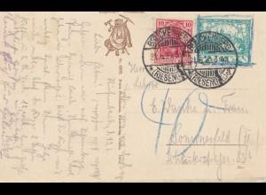 Tschecheslowakei: 1920: AK Brückenberg, Riesengebirge
