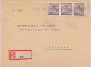 Tschecheslowakei: 1945: Einschreiben nach Genf