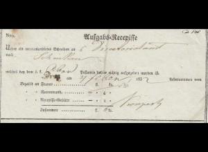 Tschecheslowakei: 1832: Aufgabs-Recepisse über Einschreiben