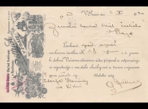 Tschecheslowakei: 1920: Postkarte