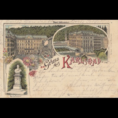 Tschecheslowakei: 1897: Ansichtskarte Karlsbad