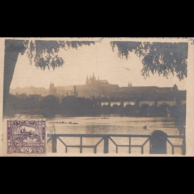 Tschecheslowakei: 1920: Ansichtskarte Prag