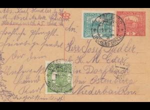 Tschecheslowakei: 1920: Ganzsache Vyssi
