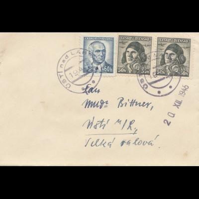 Tschecheslowakei: 1945: Brief