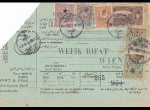 Türkei: Paketkarte aus Konstantinopel/Constantinople