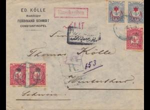 Türkei: 1916: Brief als Einscheiben von Konstantinopel nach Winterthur