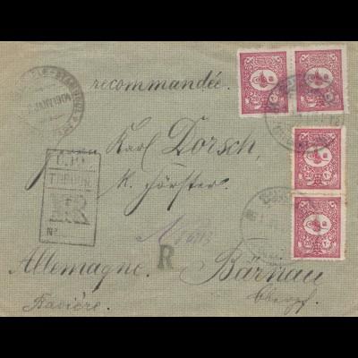 Türkei: 1904: Brief Einschreiben nach Weiden