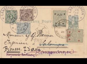 Türkei: 1898: Brousse nach Langenargen, Kartenbrief