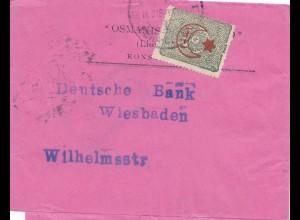 Türkei: 1916: Streifband nach Wiesbaden - Deutsche Bank