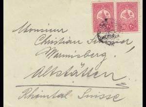 Türkei: Briefvorderseite nach Altstätten/Schweiz
