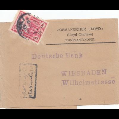 1916: Streifband nach Wiesbaden - Deutsche Bank