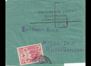 Türkei: Streifband 1916 nach Wiesbaden