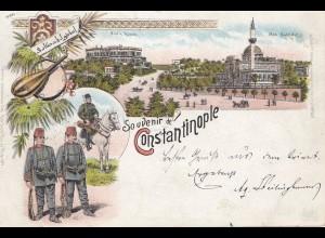 Türkei: 1898 Ansichtskarte Constantinople