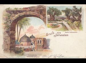 Türkei: Ansichtskarte Gruss aus Jerusalem nach Regensburg