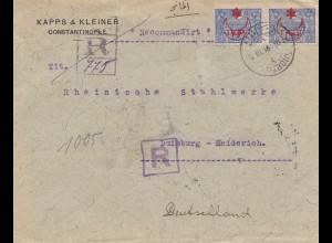Türkei: 1915: Einschreiben Constantinople nach Duisburg