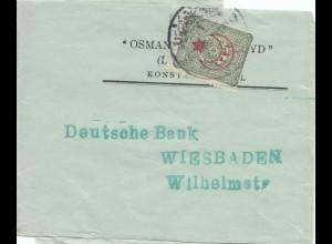 Türkei: 1916: Streifband nach Wiesbaden