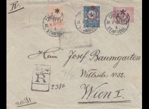Türkei: 1916: Einschreiben Stamboul nach Wien