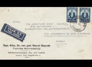 Türkei: 1952: Luftpost Istanbul nach Grossauheim