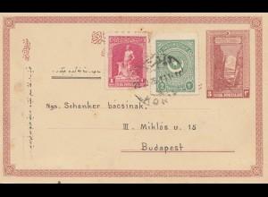 Türkei: 1923: Ganzsache Konja nach Budapest