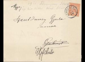 Ungarn: 1917: Trauerbrief mit großer Traueranzeige