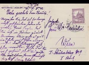 Ungarn: Ansichtskarte Csepel nach Wien