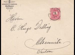 Ungarn: 1914: Zsolnan nach Chemnitz