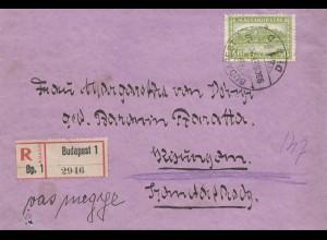 Ungarn: 1920: Einschreiben Budapest