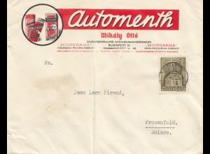 Ungarn: 1942: Brief Budapest nach Frauenfeld/Schweiz, Zensur